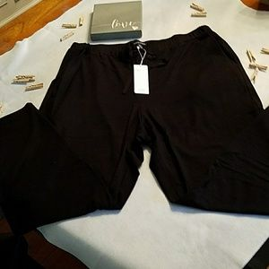 BNWT Eileen Fisher Tencel Terry pant, cropped